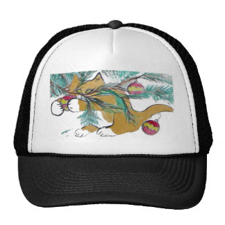 Almost have it, says Ginger Kitty Trucker Hat