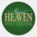Almost Heaven West Virginia_2 Round Stickers
