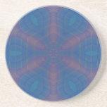 Almost Hexagonal Kaleidoscope Mandala Drink Coaster