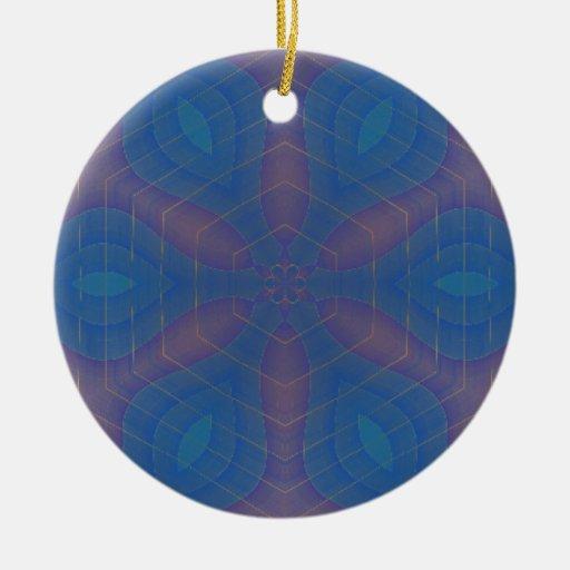 Almost Hexagonal Kaleidoscope Mandala Ornament