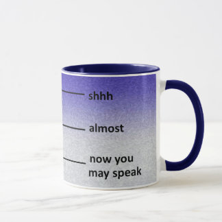 Almost Now You May Speak Coffee Measuring Cup Blue