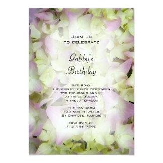 Almost Pink Hydrangea Birthday Party Invitation