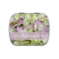 Almost Pink Hydrangea Bridal Shower Favor Jelly Belly Candy Tin