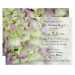 Almost Pink Hydrangea Floral Post Wedding Brunch Card