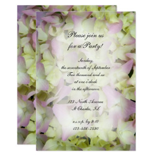 Almost Pink Hydrangea Flowers All Ocassion Party Card