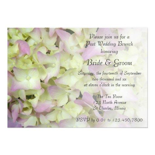 Almost Pink Hydrangea Post Wedding Brunch Invite