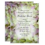 Almost Pink Hydrangea Wedding Rehearsal Dinner Card