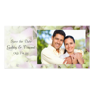 Almost Pink Hydrangea Wedding Save the Date Card