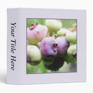Almost Ripe - Blueberries 3 Ring Binder