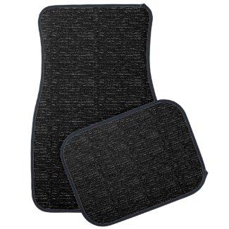 Almost Solid Black Textured Design Car Mats Floor Mat
