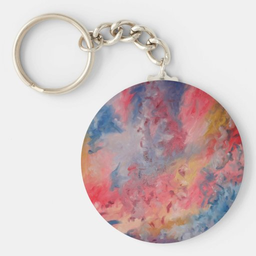 Almost Trees Basic Round Button Keychain