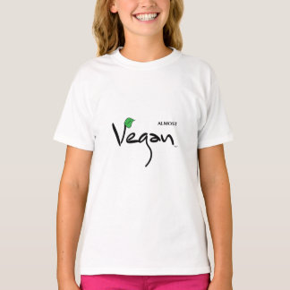 Almost Vegan with Green Leaf T-Shirt