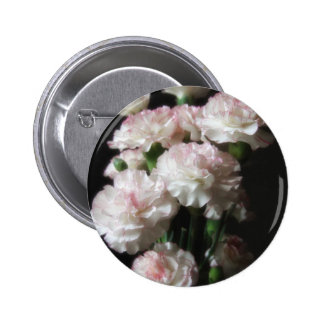 Almost White Carnations 1 2 Inch Round Button