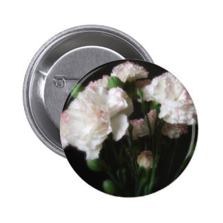 Almost White Carnations 3 2 Inch Round Button