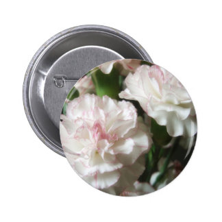 Almost White Carnations 4 2 Inch Round Button