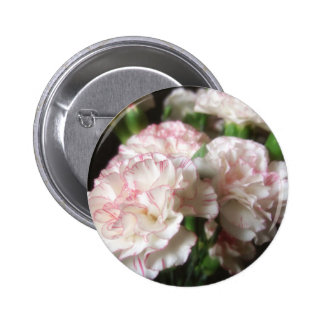 Almost White Carnations 5 2 Inch Round Button