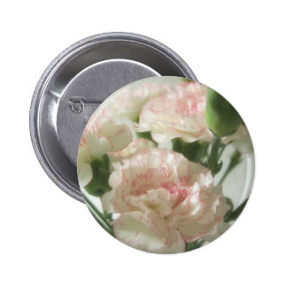 Almost White Carnations 6 2 Inch Round Button