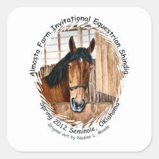 Almosta Farm Ride spring 2012 Square Sticker