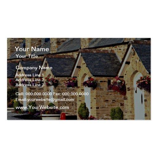 Alms Houses at Par  flowers Business Card Templates
