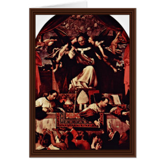 Alms Of Saint Antoninus, By Lotto Lorenzo (Best Qu Greeting Card