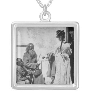 Alms Silver Plated Necklace