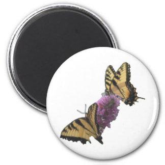 Almuerzo 2 de la mariposa imán redondo 5 cm