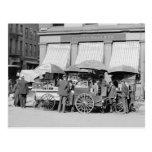 Almuerzo Carts, 1906 de New York City Tarjeta Postal