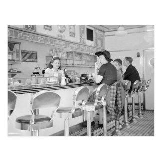 Almuerzo Counter, 1941 Tarjetas Postales