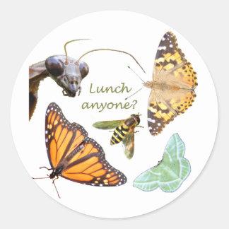 Almuerzo cualquier persona pegatina del ~