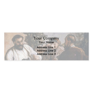 Almuerzo de Honore Daumier- en el país Plantilla De Tarjeta De Negocio