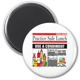 Almuerzo de la caja fuerte de la práctica imán redondo 5 cm