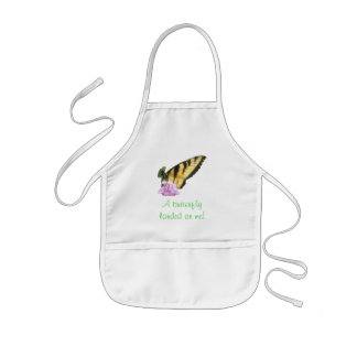 Almuerzo de la mariposa delantal infantil