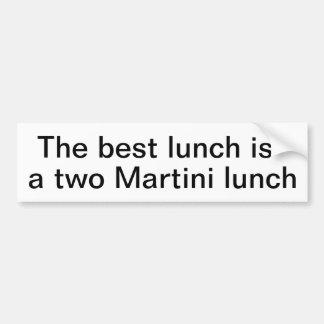 Almuerzo de Martini Pegatina Para Auto