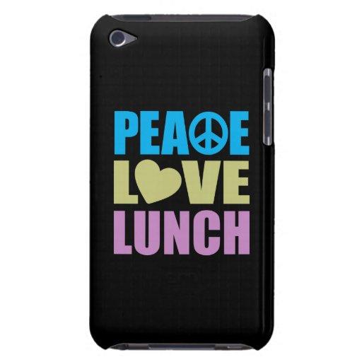Almuerzo del amor de la paz iPod touch Case-Mate cárcasas