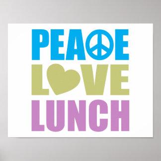 Almuerzo del amor de la paz posters
