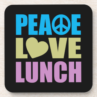 Almuerzo del amor de la paz posavasos de bebida