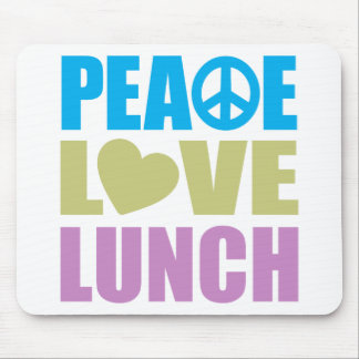 Almuerzo del amor de la paz tapete de raton