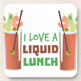 Almuerzo líquido posavasos de bebidas