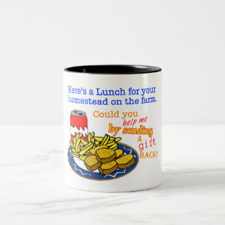 """""""Almuerzo para taza del juego de su granja"""""""