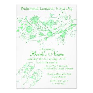 Almuerzo y balneario verdes de menta caprichosos 1 invitacion personal