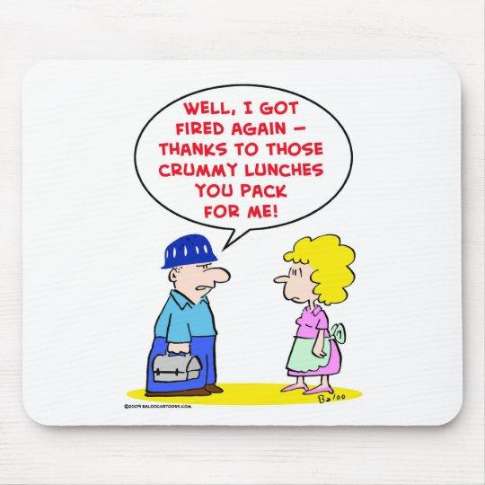 almuerzos crummy encendidos alfombrilla de ratón