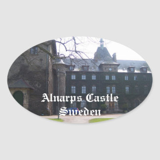 Alnarps Castle - Sweden Oval Sticker