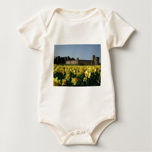Alnwick Castle from the Gardens Baby Bodysuit