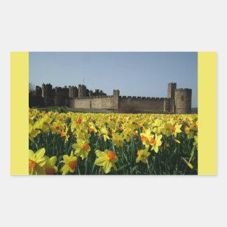 Alnwick Castle from the Gardens Rectangular Sticker