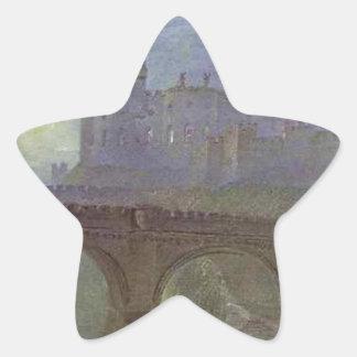 Alnwick Castle, Northumberland by William Turner Star Sticker