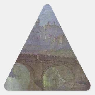 Alnwick Castle, Northumberland by William Turner Triangle Sticker