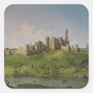 Alnwick Castle Square Sticker