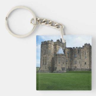 Alnwick Castle UK Double-Sided Square Acrylic Keychain