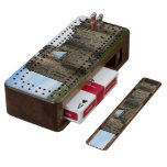 Alnwick Castle UK Walnut Cribbage Board