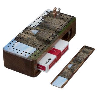 Alnwick Castle UK Wood Cribbage Board